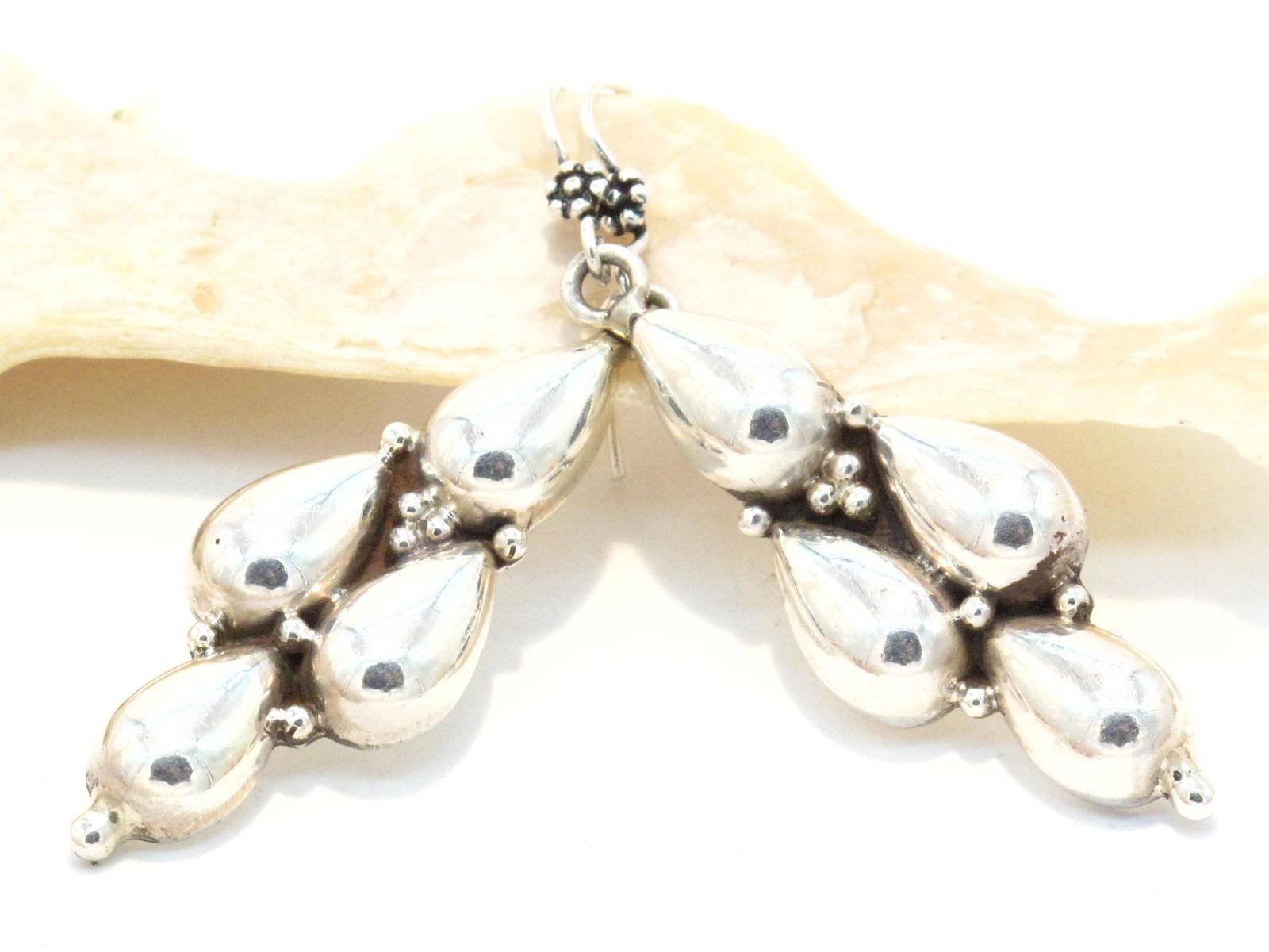 orecchini etnici indiani argento