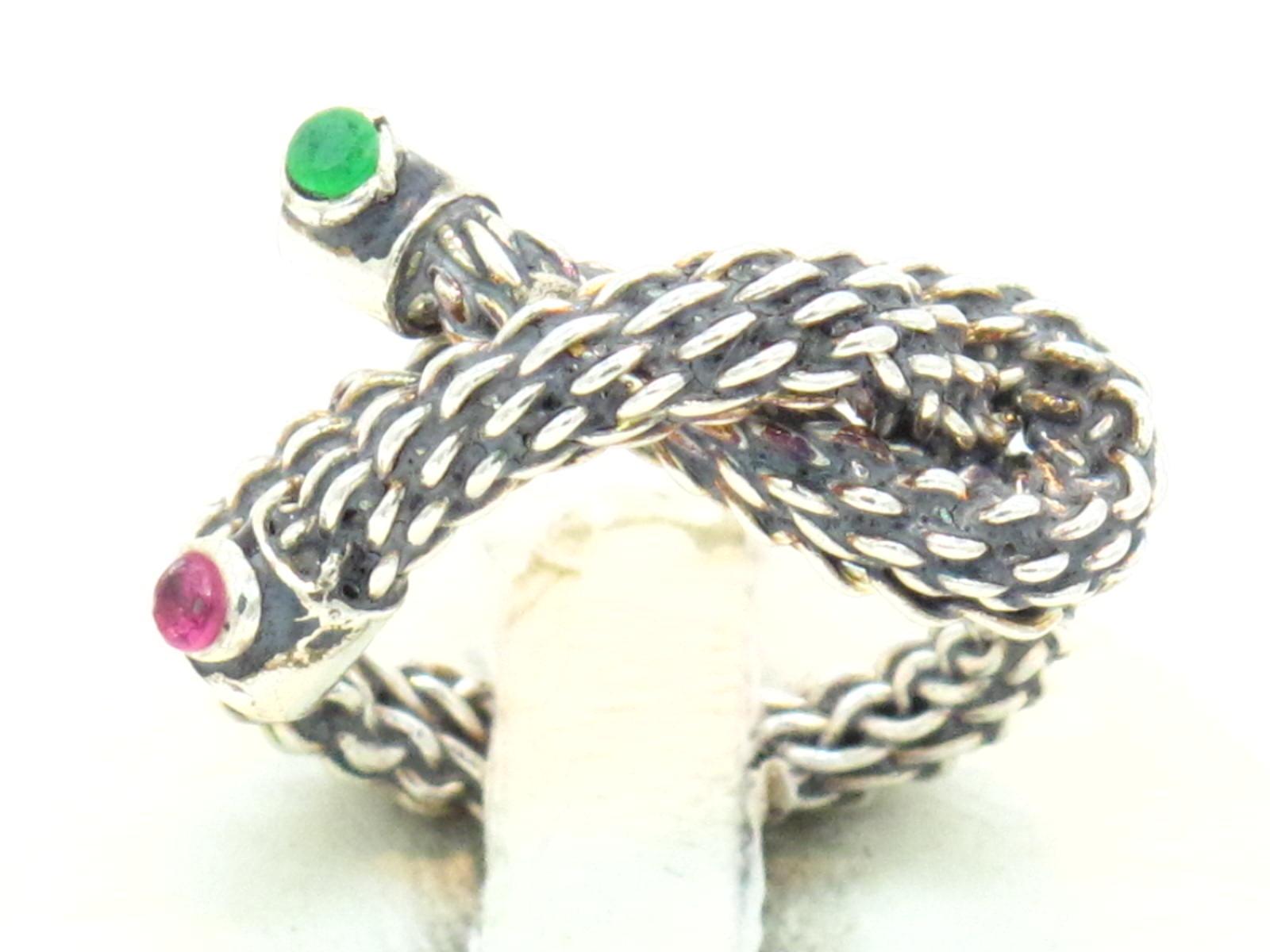 anello argento e paste vitree