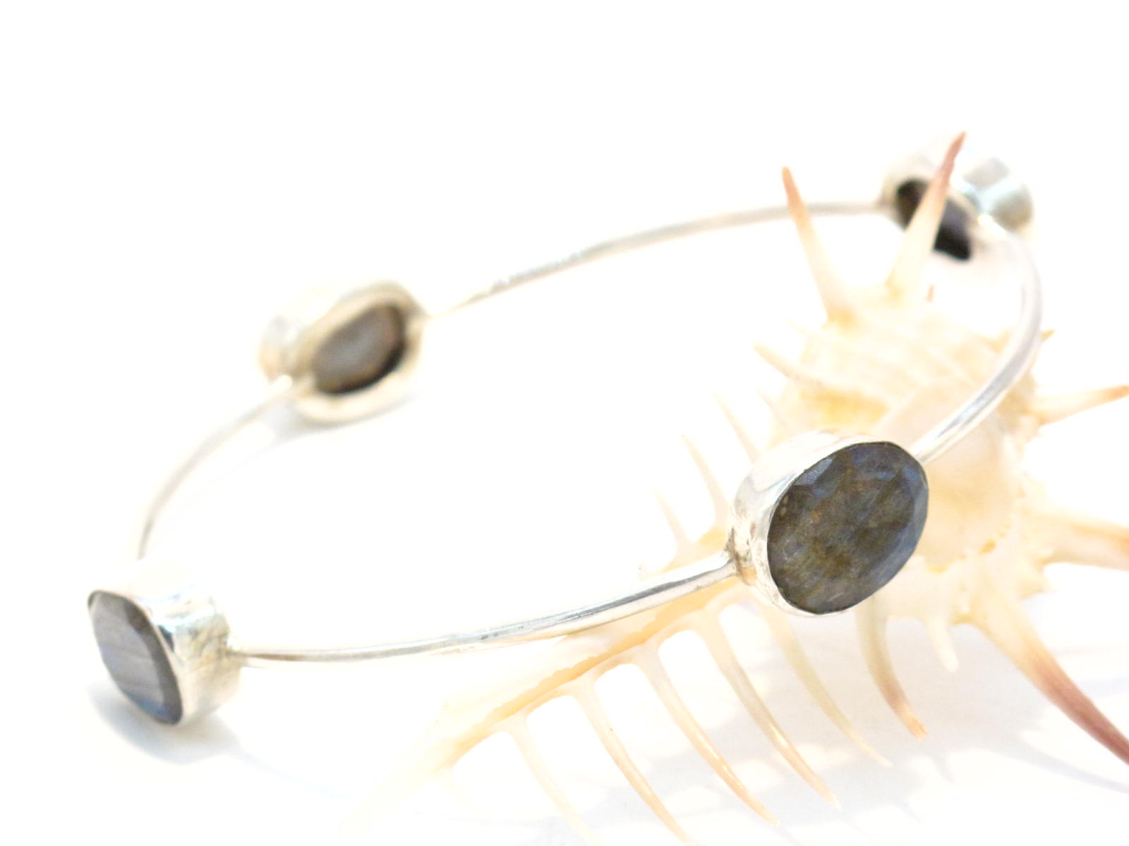 bracciale argento e labradorite
