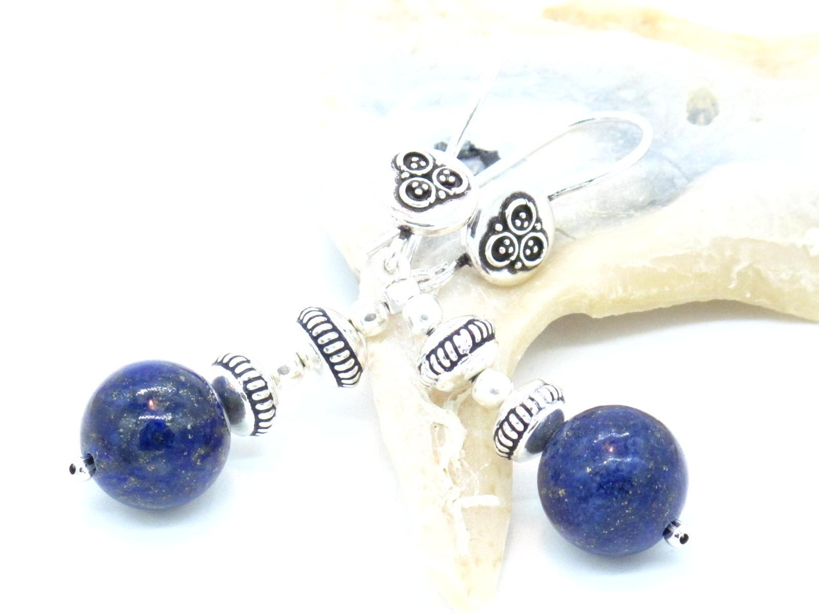 orecchini etnici argento e lapislazzuli