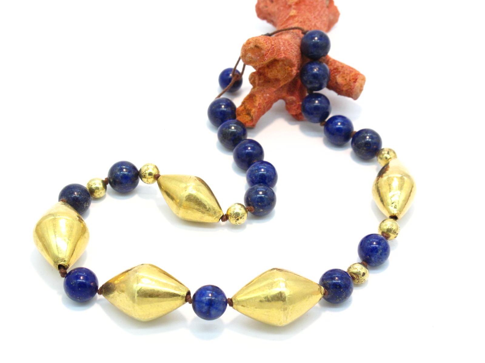collana lapislazzuli e oro