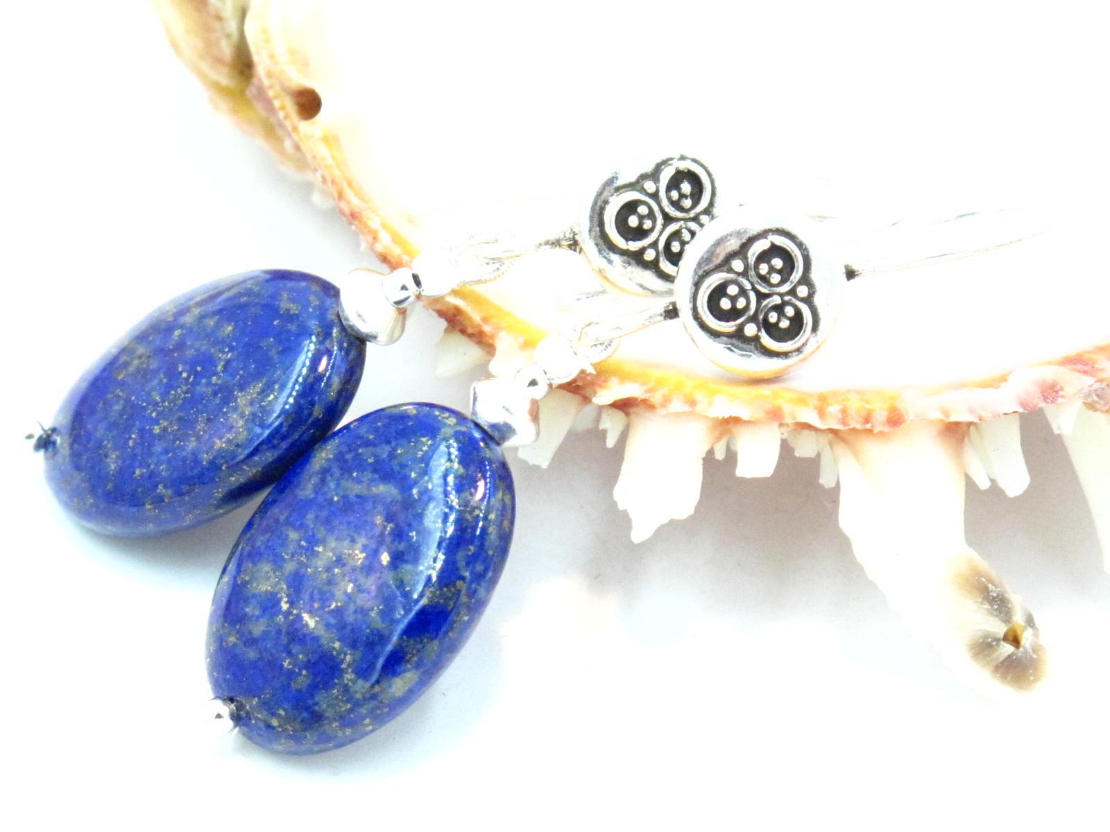orecchini in argento e lapislazzuli