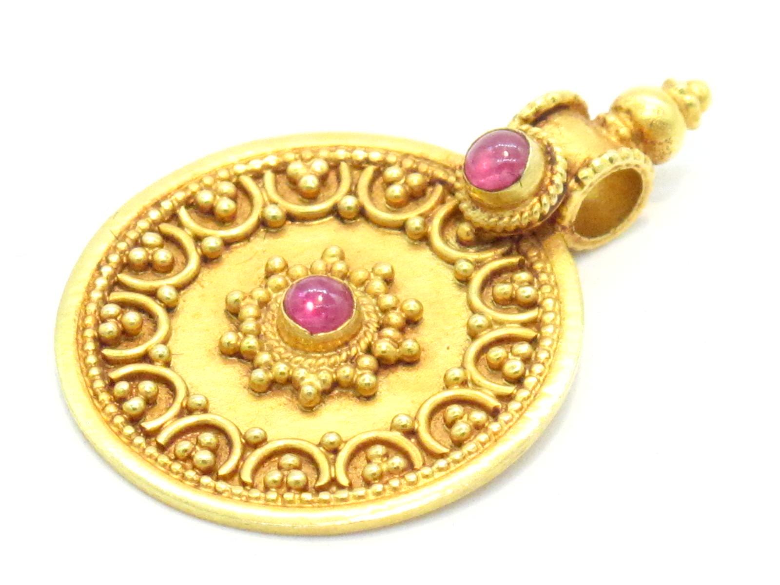 pendente indiano oro e rubini